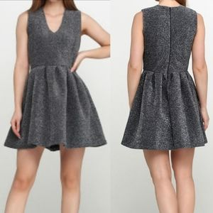 Superdry | Silver Shimmery Fit and Flare Dress